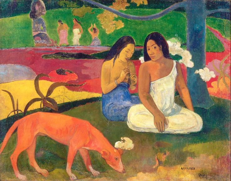 Paul Gauguin, 'Arearea', 1892 Joyeusetés (I), Huile sur toile, 75 x 94 cm  Musée d'Orsay, Paris, legs de M. et Mme Lung, 1961  © RMN-Grand Palais (Musée d'Orsay) / Hervé Lewandowski  Paul Gauguin La Vision du sermon, 1888 Huile sur toile, 72,2 x 91 cm Scottish National Gallery, Édimbourg  Format imprimable: 23 x 30 cm   Paul Gauguin La Vision du sermon, 1888 Huile sur toile, 72,2 x 91 cm Scottish National Gallery, Édimbourg  Format imprimable: 23 x 30 cm