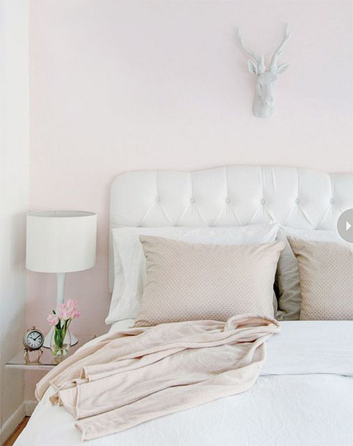 Architecture Bedrooms | AllThingsWhite | Rosamaria G Frangini || Pale Pink  U0026 White Bedroom Part 42