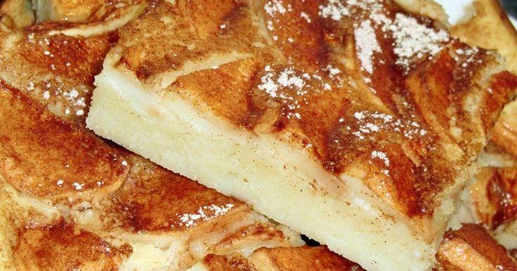 Mennyei Almás palacsinta tepsiben recept! Egy nagyon egyszerű palacsintavariáció. Gyors, és könnyen variálható.