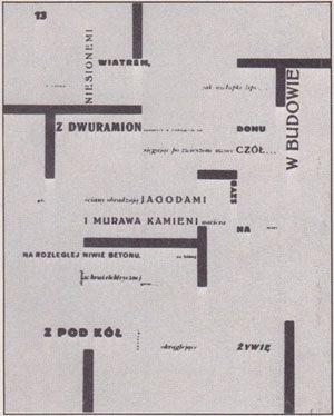 Wladyslaw Strzeminsky: page from a volume of poetry, 1926