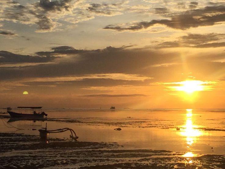 sunset at semawang beach, sanur, Bali