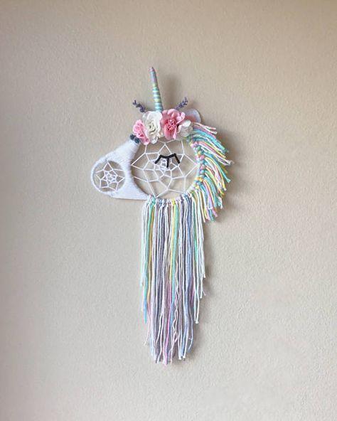 Unicornio floral Dream Catcher
