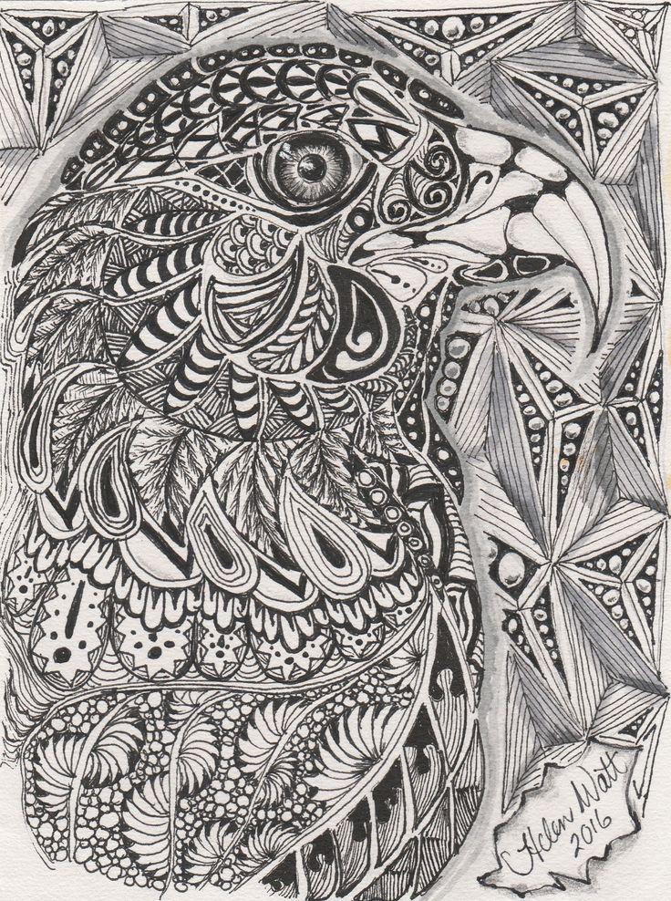 Zentangle eagle