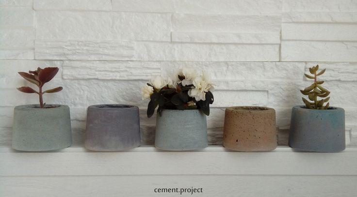 Színes beton kaspók