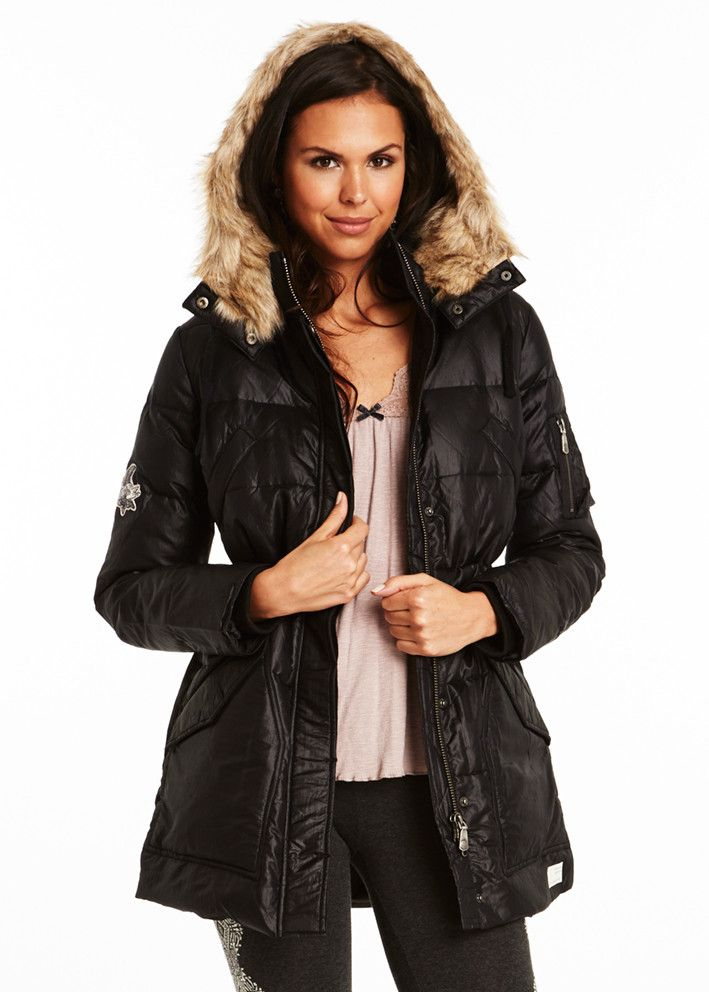 Odd Molly Peace Down Long Jacket 815M-842 almost black – acorns