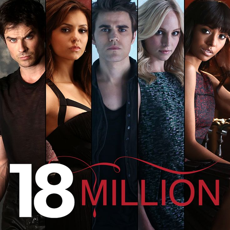 18 MILLION of the best fans on the planet! #TVD returns with its 100th episode Thursday at 8/7c!