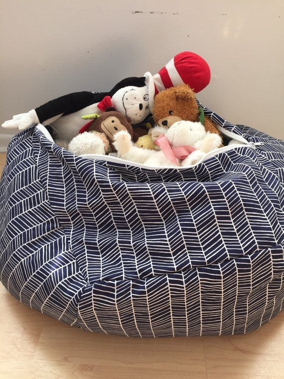 Stuffed Animal Storage Pillow Patterned by Keepyoulittle on Etsy