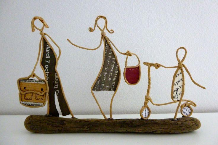 Rencontre avec le maître d'école - figurines en ficelle et papier : Accessoires de maison par ficelleetpapier