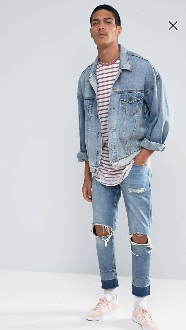 Longline Long Sleeve T-Shirt With Burnout Stripe And Curve Hem