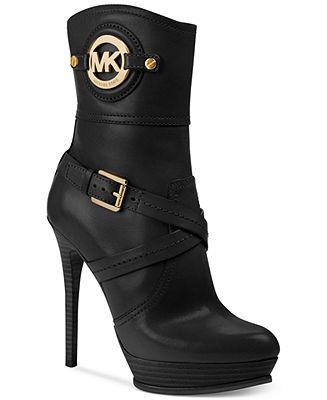$249 MICHAEL Michael Kors Stockard Booties - Boots - Shoes - Macy's