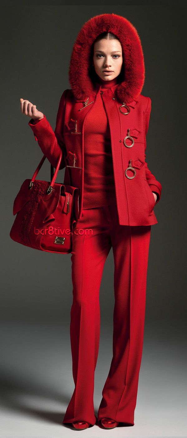 #Blumarine Fall Winter 2012 - 2013 Main Collection #Red #Jackets