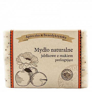 MYDŁO NATURALNE JABŁKOWE Z MAKIEM 130 G - Produkty Benedyktyńskie    Mydło naturalne jabłkowe z makiem zawdzięcza swoje peelingujące właściwości ziarnom maku, dzięki którym doskonale oczyszcza skórę z martwego naskórka. Działani...