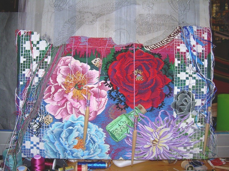 Kathe Todd Hooker tapestry in progress - stunning!: Kath Todd, Tapestries Weaving, Todd Hooker, Hooker Tapestries