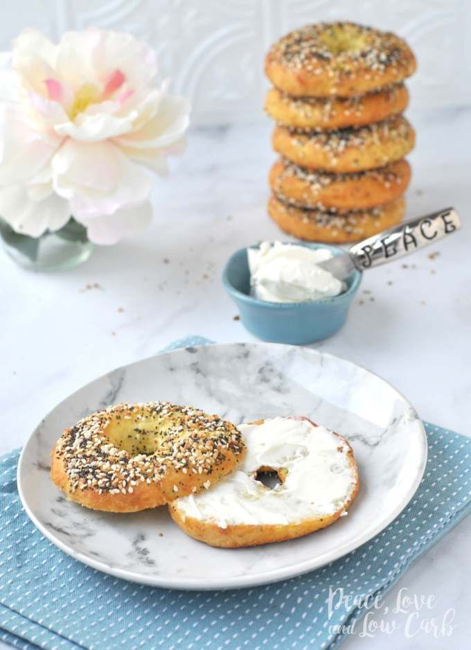 Low Carb Keto Everything Bagels - Calories: 449 | Fat: 35.5g | Protein: 27.8g | Total Carbs: 10g | Fiber: 4g | Net Carbs: 6g