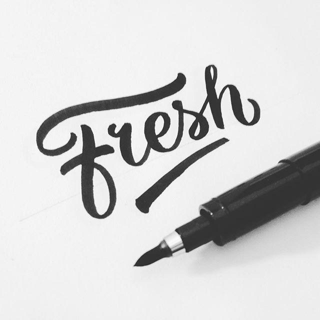 Daily lettering. #lettering #type #ink #designspiration #inspiration #letters #fresh #brushpen #zebrafudebrushpen #fresh #brushlettering #brushscript #typespire #letteringco #artoftype #handdrawntype #handrawn #handlettering #thedailytype #goodtype #typegang
