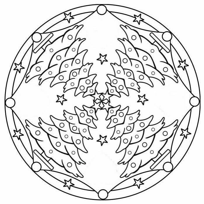 92 best images about mandala christmas winter on pinterest - Mandalas noel ...