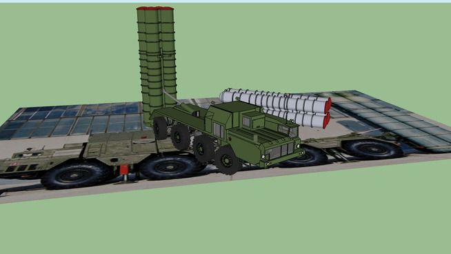 """Large preview of 3D Model of S-300 PMU SA-10 """"Grumble"""" Anti-Aircraft Missile…"""