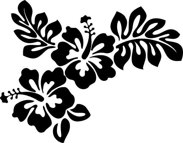 Hibiscus Hawaiian Flower Clip Stencil Clipart Silhouette Vector