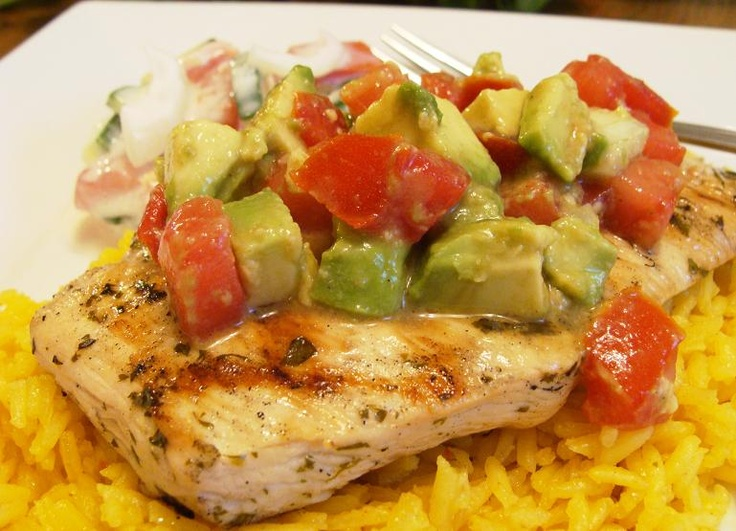 Cilantro-Lime Chicken with Avocado Salsa | A Healthy Girl is a Happy ...