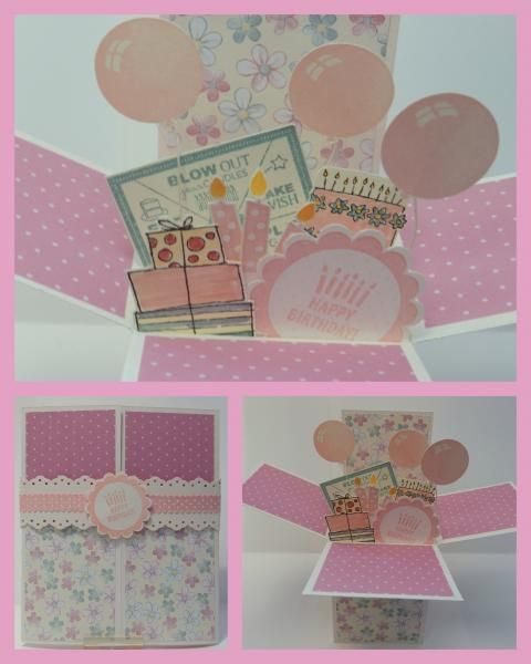 Birthday Pop-Up Box Card by inkyfingers61 - Cards and Paper Crafts at Splitcoaststampers