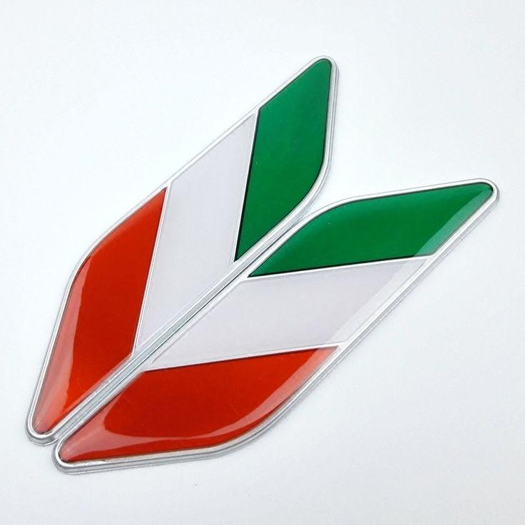 1 Pair Car 3D Italian Italy Flag Stickers Badge Emblems Decal Decor For Ferrari /Fiat Car //Price: $8.99 & FREE Shipping //     #hashtag2