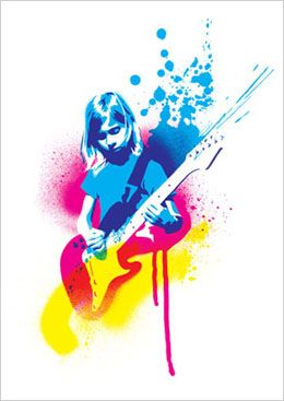 Learn to play guitar by Miles Donovan. This is a vector image which has been created on Photoshop by thresholding the image and many other things. I have selected this image because I like the colours used and how they compliment each other. I have not yet created a vector portrait.