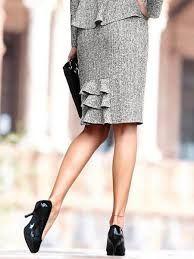 Kết quả hình ảnh cho прямая юбка с воланом