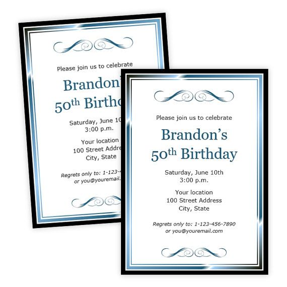 9 best Party Invitations images – Microsoft Party Invitation Templates