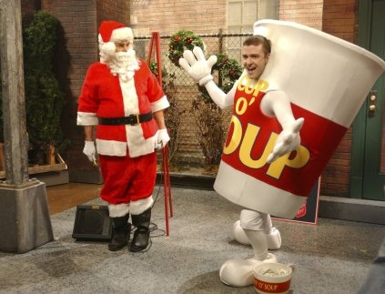 Justin timberlake is freakin' hilarious!  Soup there it is... I love this SNL skit! One of my favorites.