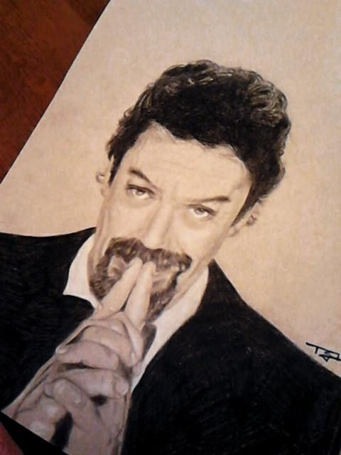 Tim Curry portrait - Anthony Gordon art