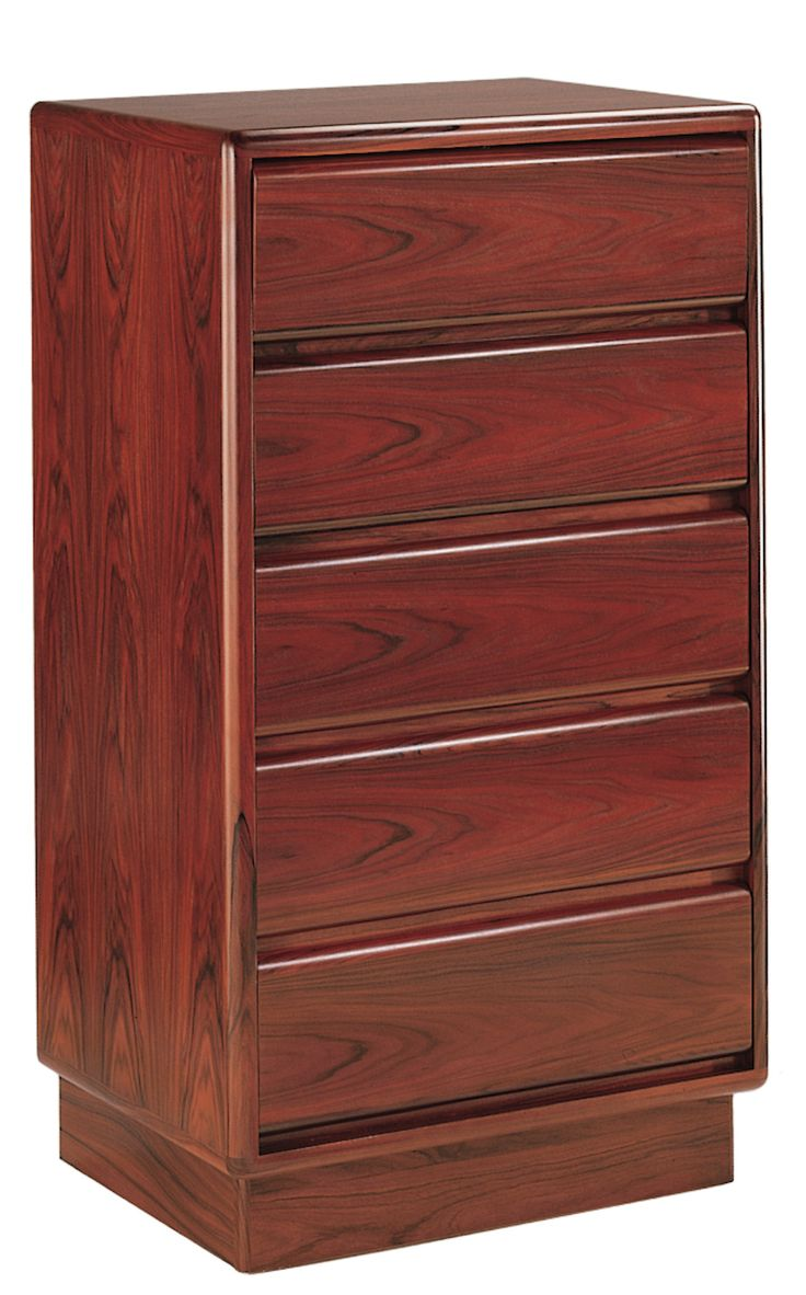 Mobican Prestigia contemporary wood bedroom narrow chest with 5 drawers PRE24.