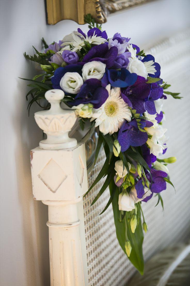 blue orchid bridal bouquet