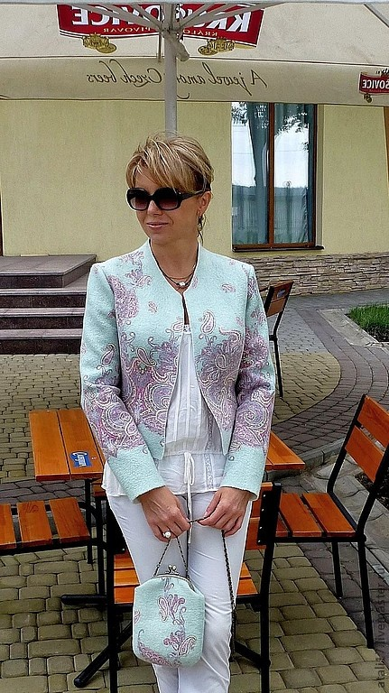 "Felted Jacket from Natalia Leletscaya Ярмарка Мастеров - ""Лаура"""