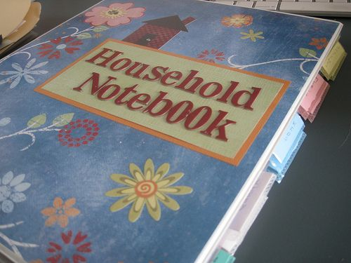 Household Notebook - This is a great idea, I love anything that will keep me organized.