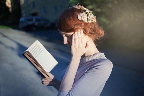 Women reading outside.