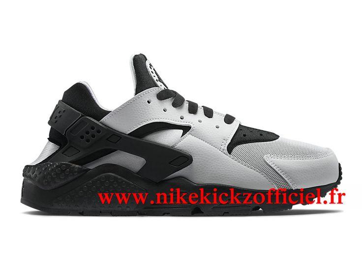 Boutique Officiel Nike Air Huarache Run Homme Noir/Blanc/Bleu-gris