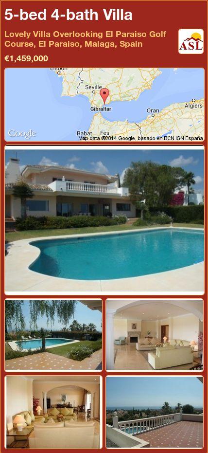 5-bed 4-bath Villa in Lovely Villa Overlooking El Paraiso Golf Course, El Paraiso, Malaga, Spain ►€1,459,000 #PropertyForSaleInSpain