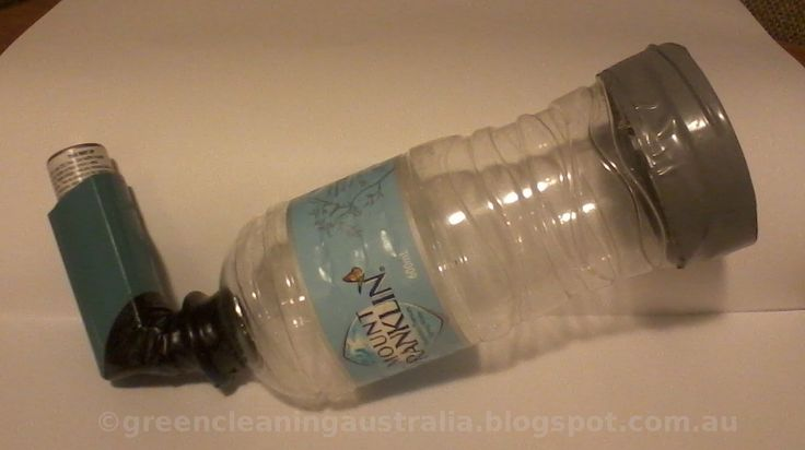 Waterbottle Converted To Spacer For Asthma Inhaler For