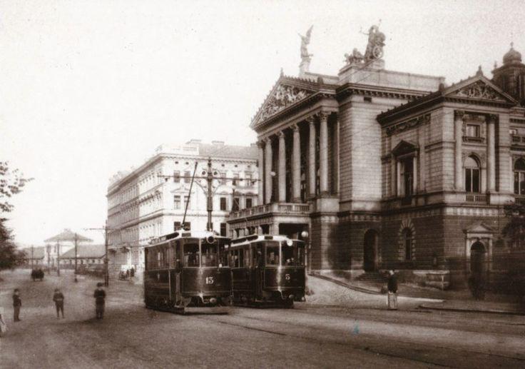 Prague 1897, tramway by the State Opera