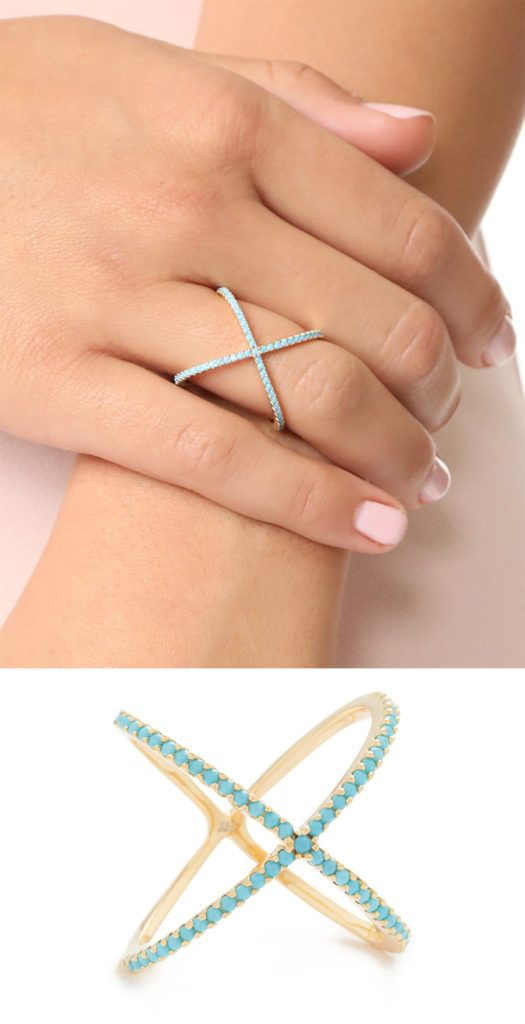 Turquoise X Ring