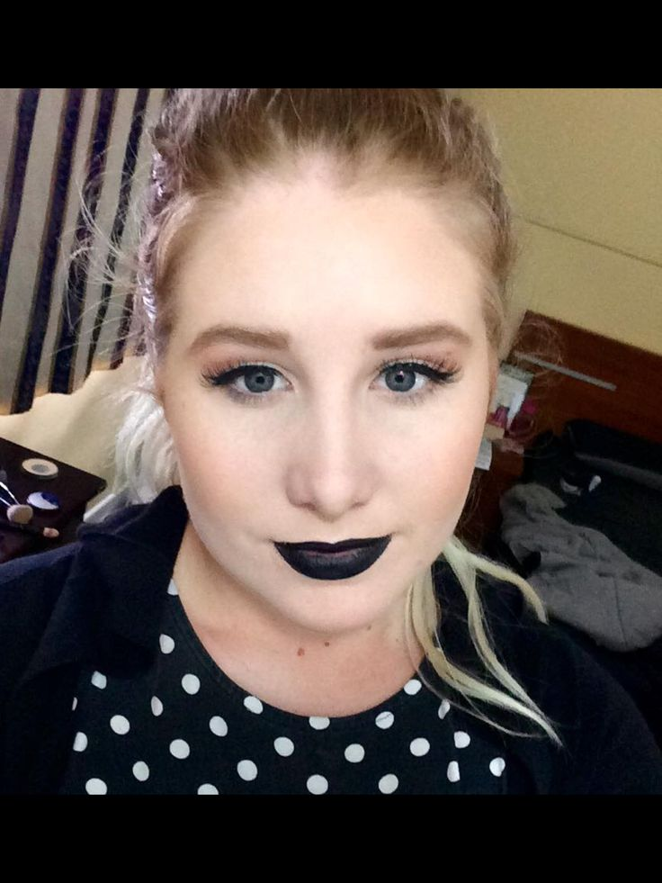 Beautiful Makeup Black Lips
