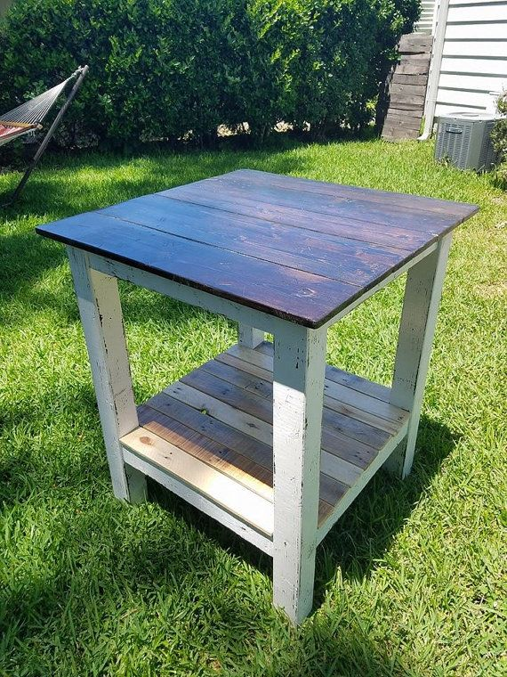 Reclaimed Wood High Top Table By HandHCustomWoodworks On Etsy