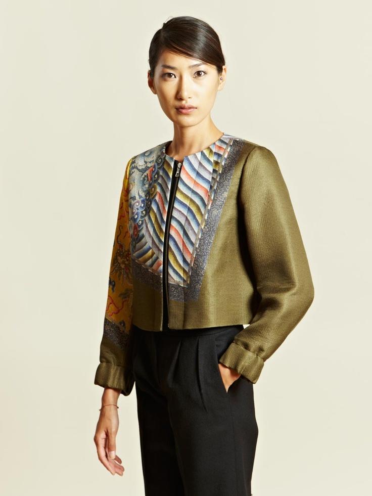 Dries Van Noten Women's Batik Jacket.