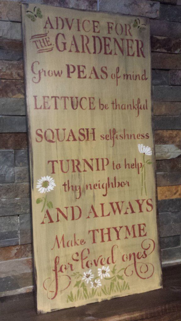 SPRING GARDEN SIGN SALE. THIS SIGN IS AT A REDUCED PRICE OF $35 CANADIAN. THE REGULAR PRICE IS $45 LIMITED TIME OFFER. GREAT MOTHERS DAY GIFT. ADVICE FOR THE GARDENER/GARDEN SIGN/HUMOROUS SIGN/GIFT FOR GARDENER/SIGN FOR GARDEN/POTTING SHED/MOTHERS DAY GIFT. PROCESSING IS 3-5 DAYS THEN ONCE SHIPPED DELIVERY IS 5-7 BUSINESS DAYS. PLEASE ORDER EARLY FOR MOTHERS DAY. IF YOU WANT YOUR SHIPPING BUMPED TO A QUICKER RATE PLEASE CONTACT ME VIA EMAIL WITH YOUR FULL AD...