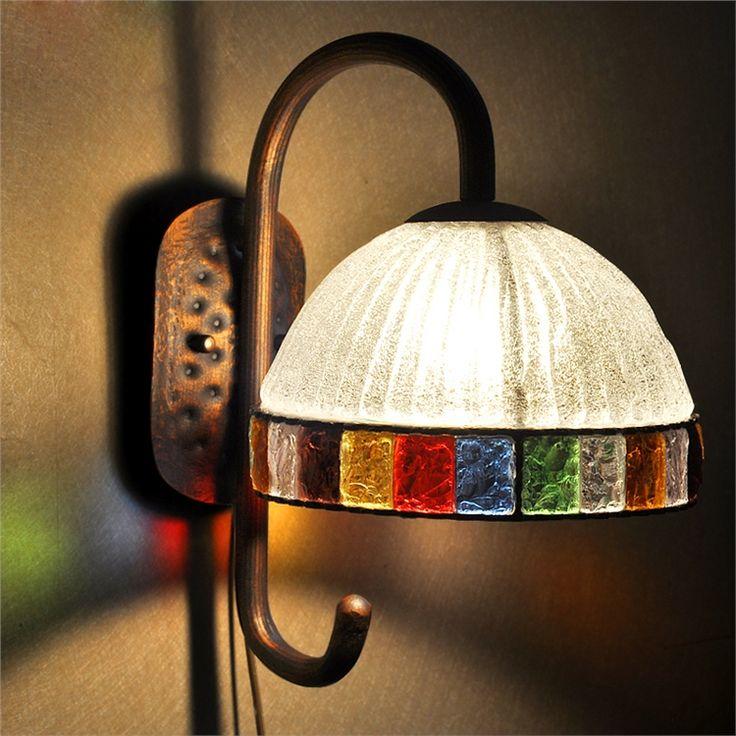 壁掛け照明 玄関照明 壁掛けライト ウォールライト 彩色瑠璃照明 1灯1046-lt-B058