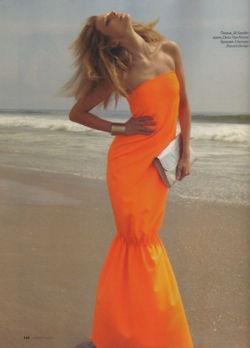 orange: Orange Crushes, Orange Beaches, Orange Dresses, Hot Dresses, Jil Sander, Neon Dresses, Mermaids Dresses, Bright Colors, Fashion Shoots