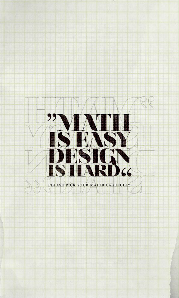 MATH is EASY , DESIGN is HARD by ~countingsheeps on deviantART