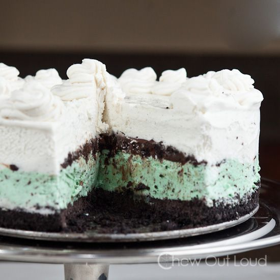 Ice Cream Cake with Fudgy Crunchies + Desserts Cookbook Giveaway | Re ...
