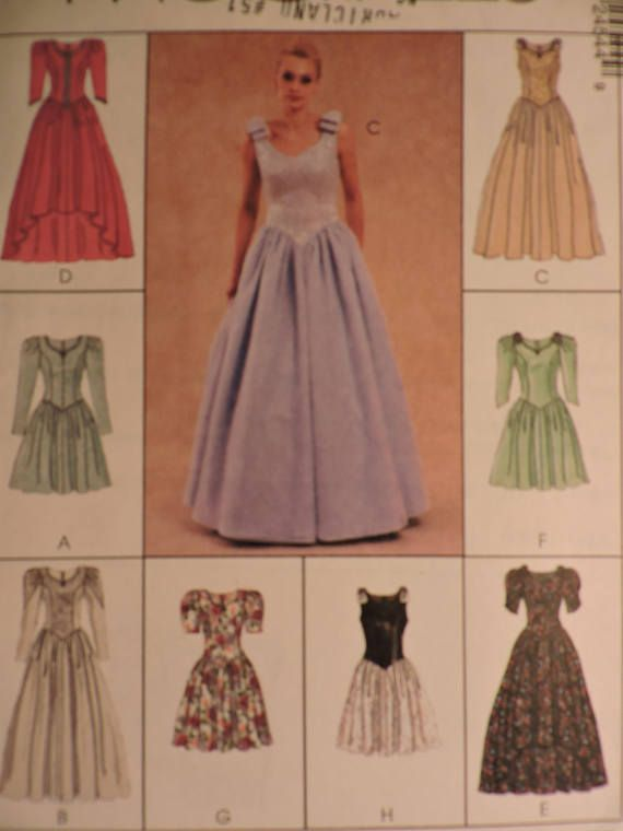 Long Evening Gown or Short Dress Fitted Lined Bodice