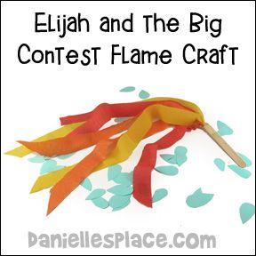 Elijah's prayer children's story - dltk-bible.com